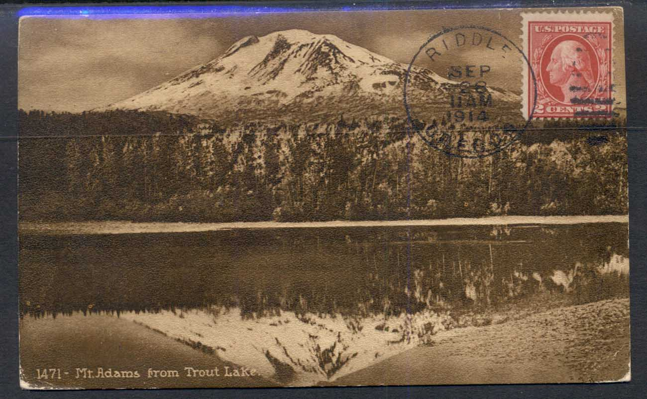 USA 1914 PPC Mountain, Trout Lake