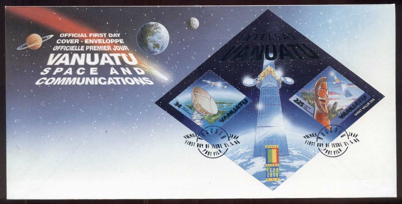 Vanuatu 2000 Space & Communications MS FDC