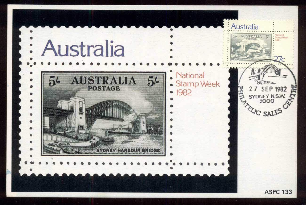 Australia 1982 National Stamp Week Maxi Card (faults)