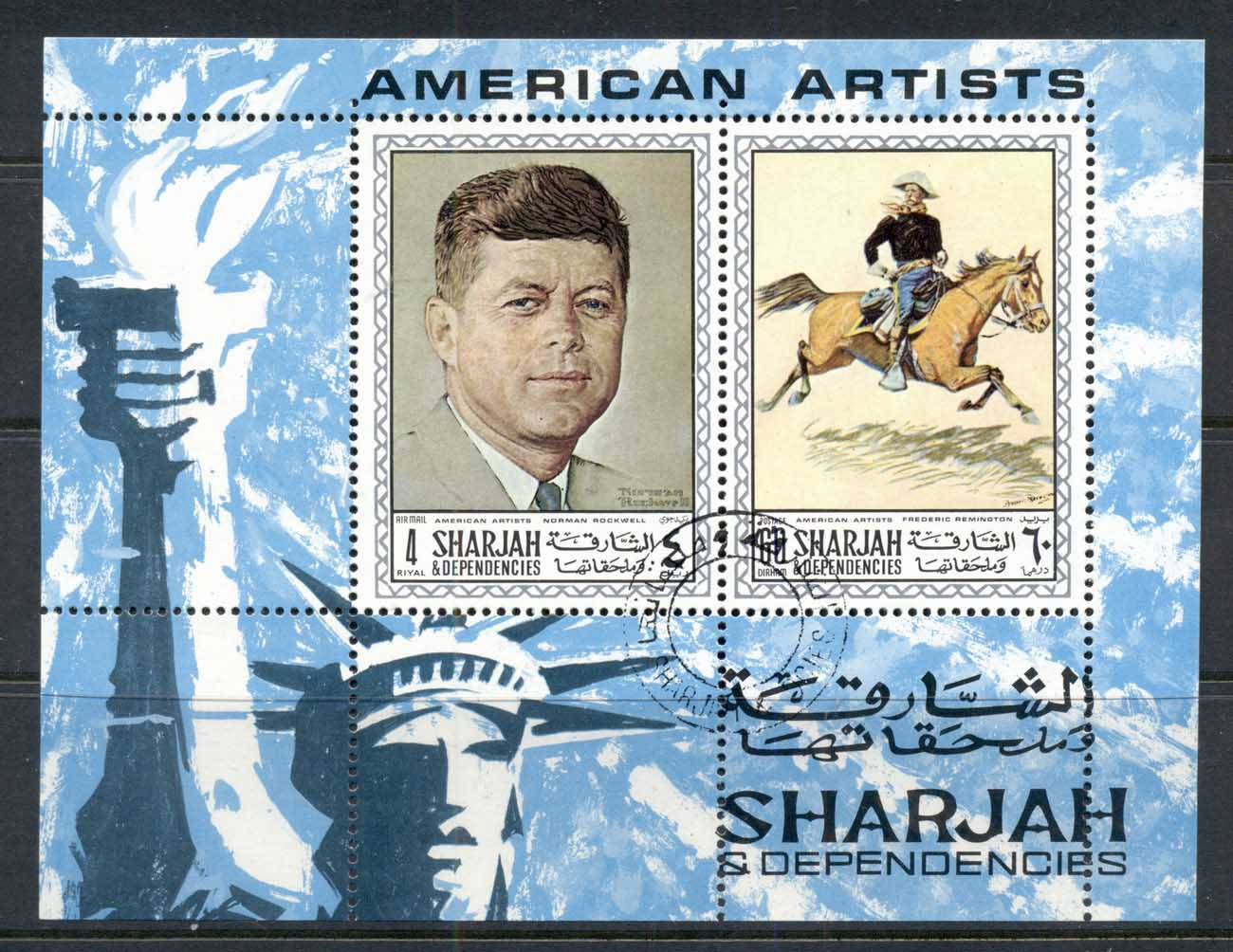 Sharjah 1968 Mi#MS36A American Paintings MS CTO