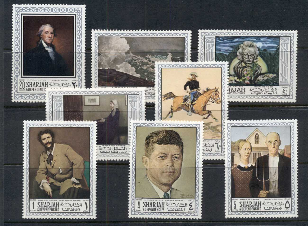 Sharjah 1968 Mi#448-455 American Paintings MUH
