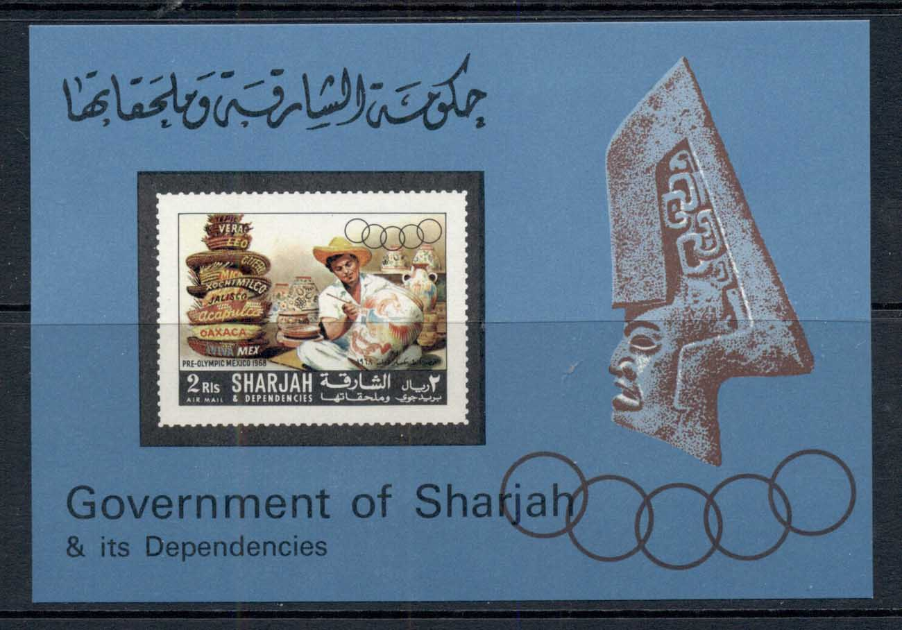 Sharjah 1967 Mi#MS27 Summer Olympics Mexico City MS MUH