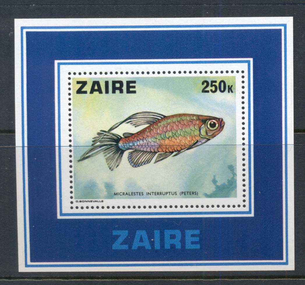 Zaire 1978 Fish MS MUH