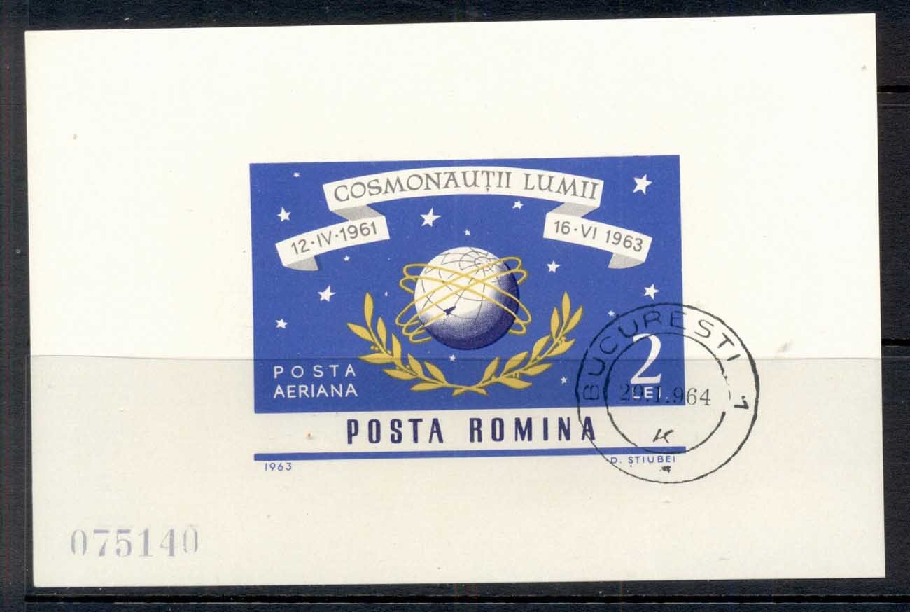 Romania 1963 Space, Cosmonauts MS CTO