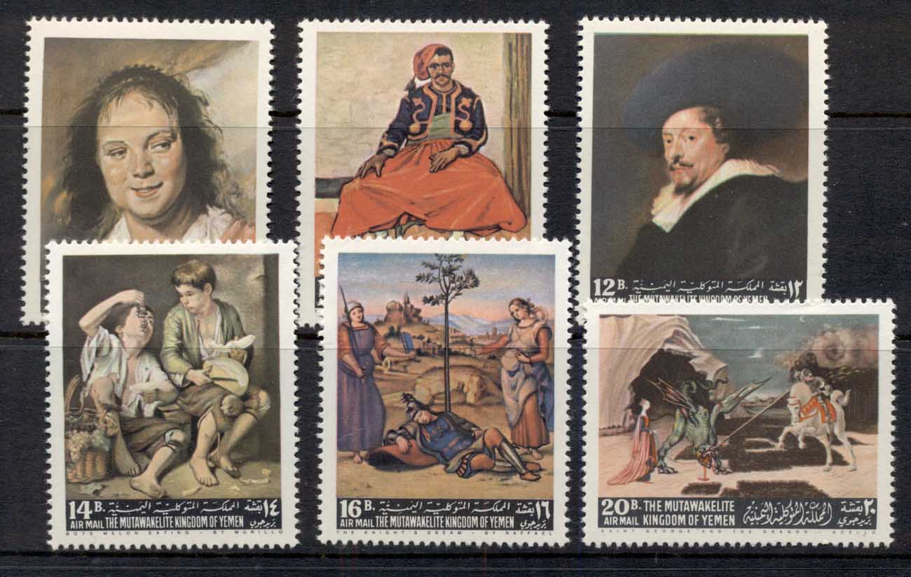 Yemen Kingdom 1967 Mi#290-295 Paintings by European Masters MUH
