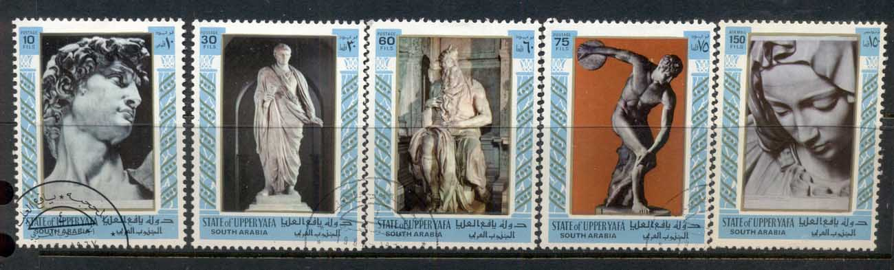 Aden State of Upper Yaffa 1967 Mi#17-21 Sculptures CTO