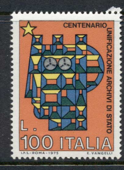 Italy 1975 Unification of State Archives MUH