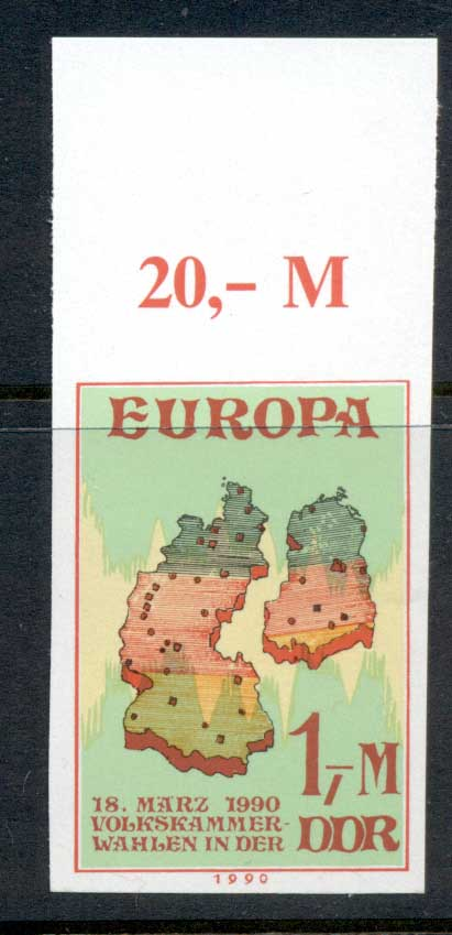 Germany DDR 1990 Europa 1m IMPERF MUH