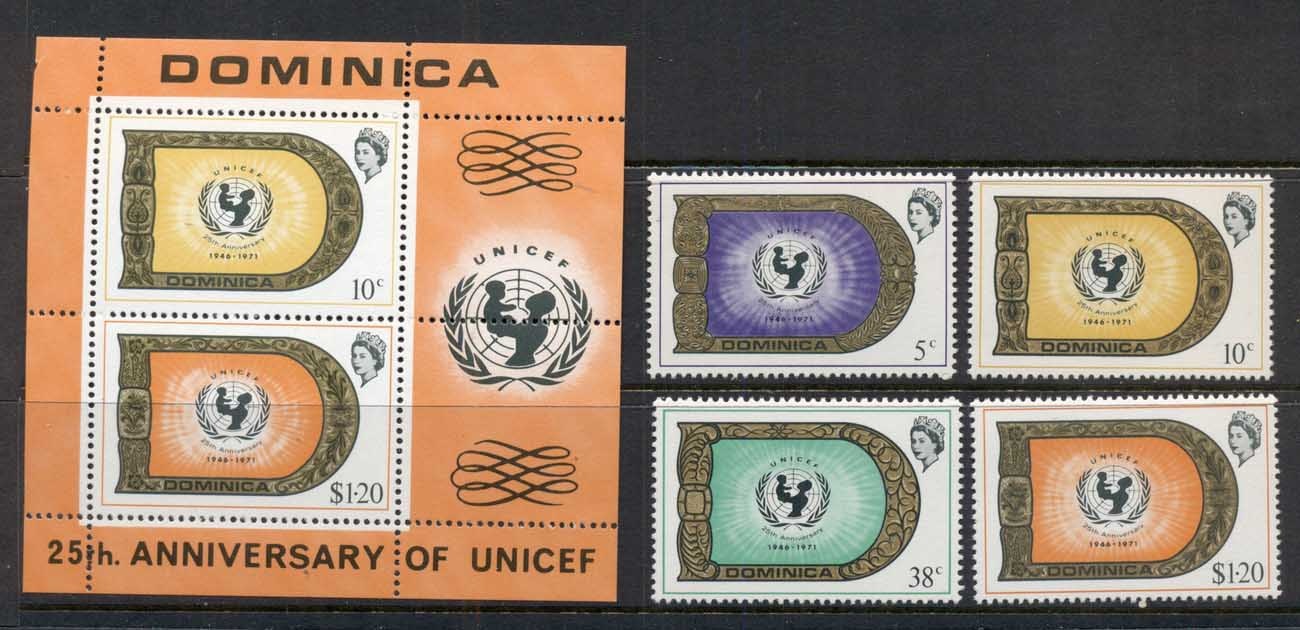 Dominica 1971 UNICEF 25th Anniv. + MS Muh
