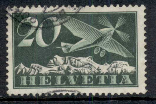Switzerland 1925 Airmail 20c FU