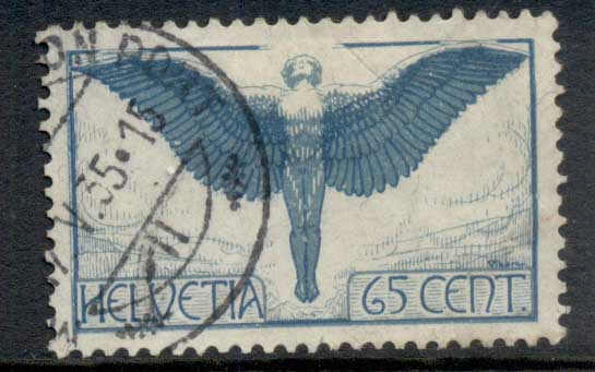 Switzerland 1923-25 Figure of Flight 65c FU