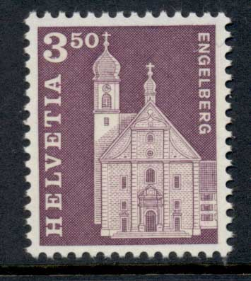 Switzerland 1964-68 Definitive 3.50fr Engelberg Church MUH