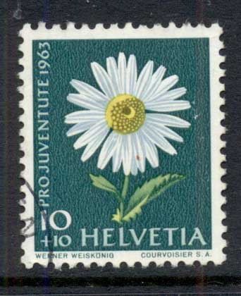 Switzerland 1963 Welfare, Flowers 10c FU