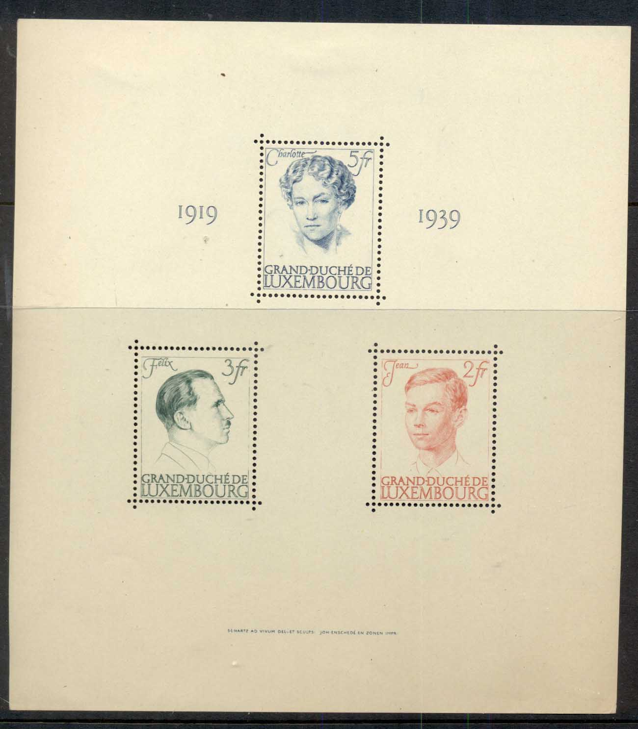 Luxembourg 1939 Grand Duchess Charlotte Marriage to Prince Felix MS MLH