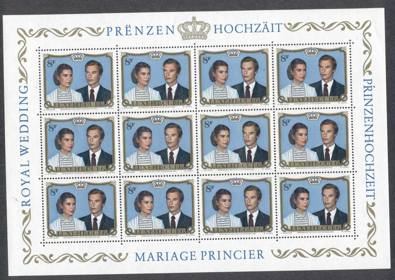 Luxembourg 1981 Wedding of Prince Henri to Maria Theresa Mestre sheetlet MUH
