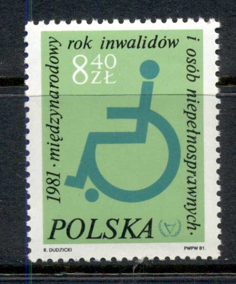 Poland 1981 Intl. Year of the Disabled MUH