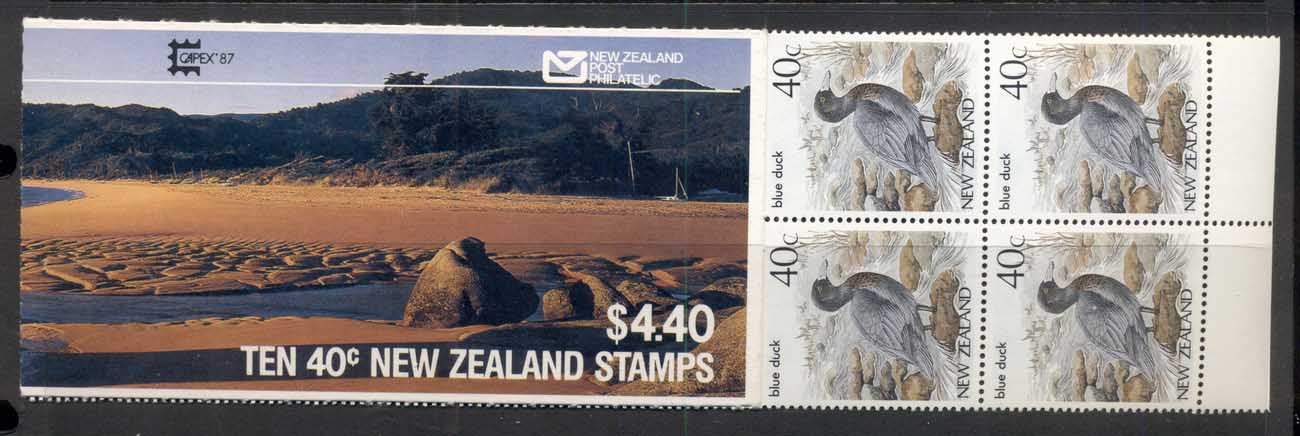 New Zealand 1987 Blue Duck booklet MUH