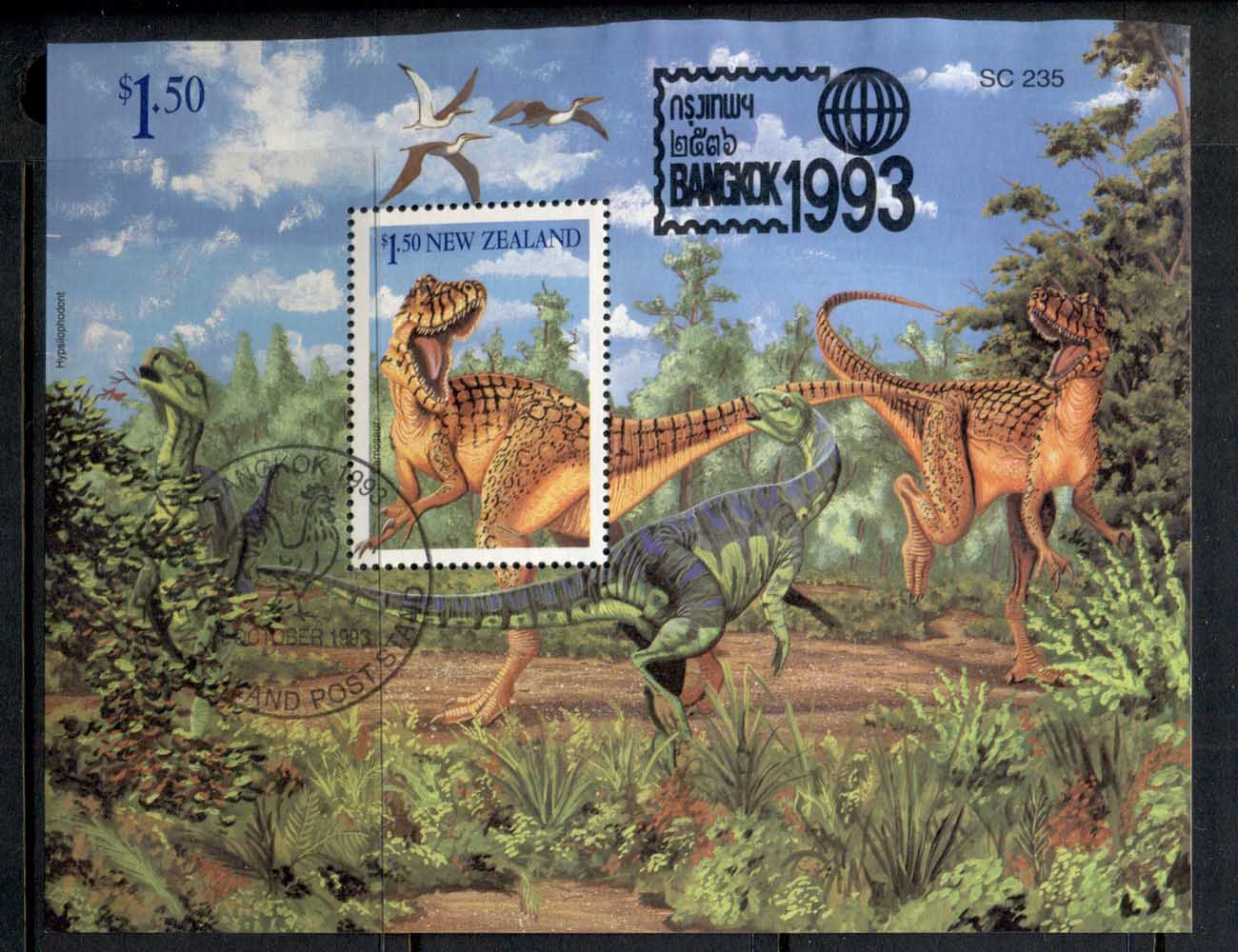 New Zealand 1993 Dinosaurs, Bangkok MS CTO