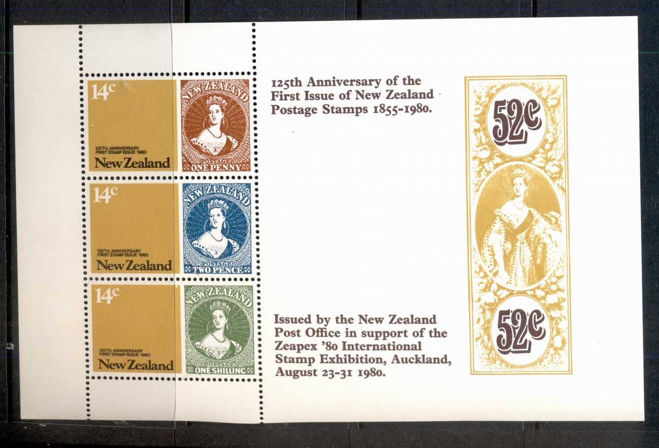 New Zealand 1980 Stamp Anniversary MS MUH