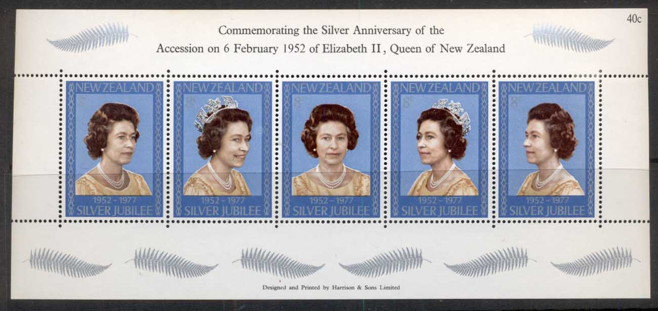 New Zealand 1977 QEII Silver Jubilee MS MUH