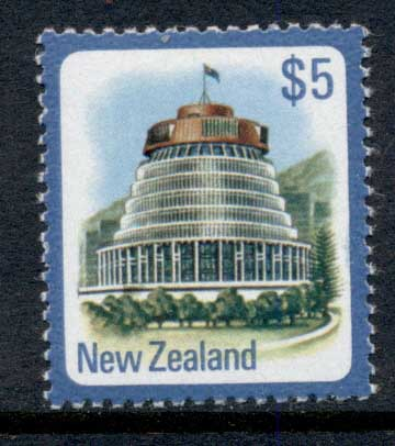New Zealand 1977-82 Parliament Building $5 MUH