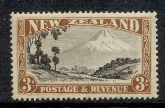 New Zealand 1935-41 Mt Egmont 3/- Perf 15 MLH