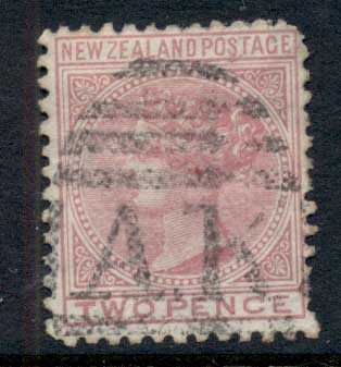 New Zealand 1874 QV 2d rose FU