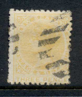New Zealand 1882 QV 3d orange FU