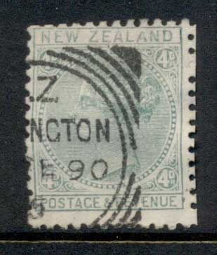 New Zealand 1882 QV 4d blue green FU