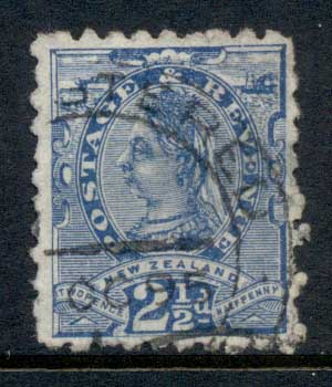 New Zealand 1891-95 QV 2.5d ultramarine FU