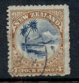 New Zealand 1899-1900 Pictorial Lake Taupo 4d FU