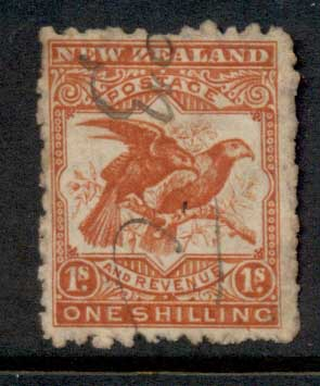 New Zealand 1899-1900 Pictorial Kea & Kaku birds 1/- FU