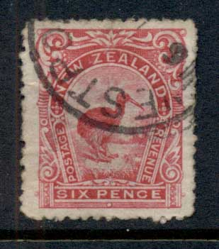 New Zealand 1899-1900 Pictorial Kiwi Bird 6d FU