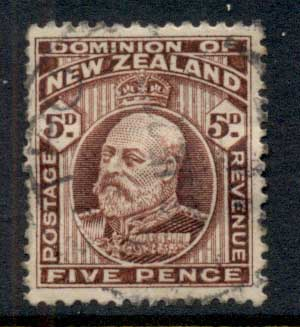 New Zealand 1909-12 KEVII Engraved 5d FU