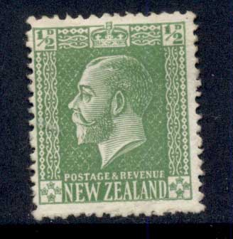 New Zealand 1914 KGV Portrait 1/2d green MNG