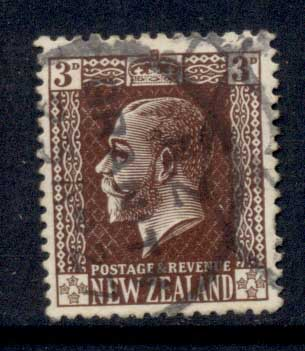 New Zealand 1915-22 KGV Portrait 3d FU