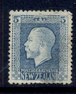 New Zealand 1915-22 KGV Portrait 5d FU