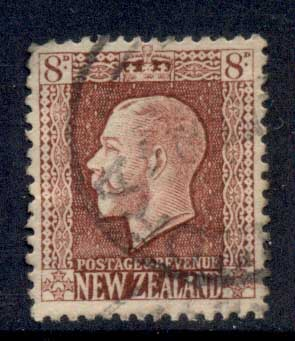 New Zealand 1915-22 KGV Portrait 8d brown FU