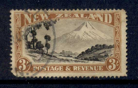 New Zealand 1936-41 mt Egmont 3/- Perf 15 FU