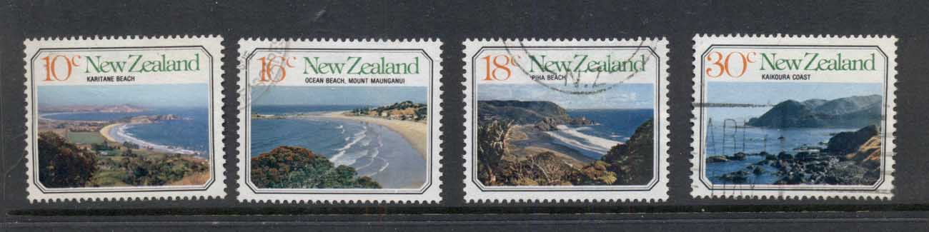 New Zealand 1977 Views, Beaches FU