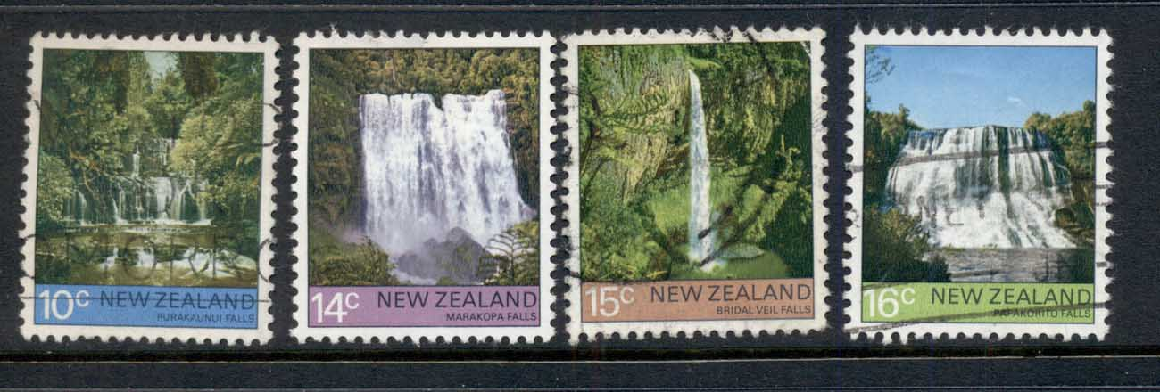 New Zealand 1976 Views, waterfalls FU