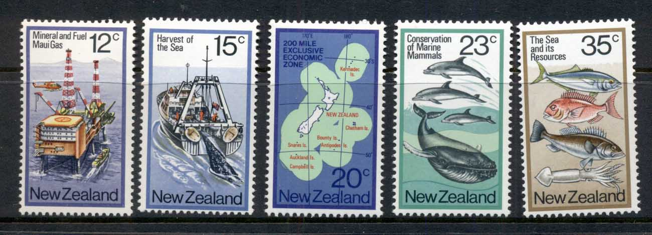 New Zealand 1978 The Sea & it's Resources MUH