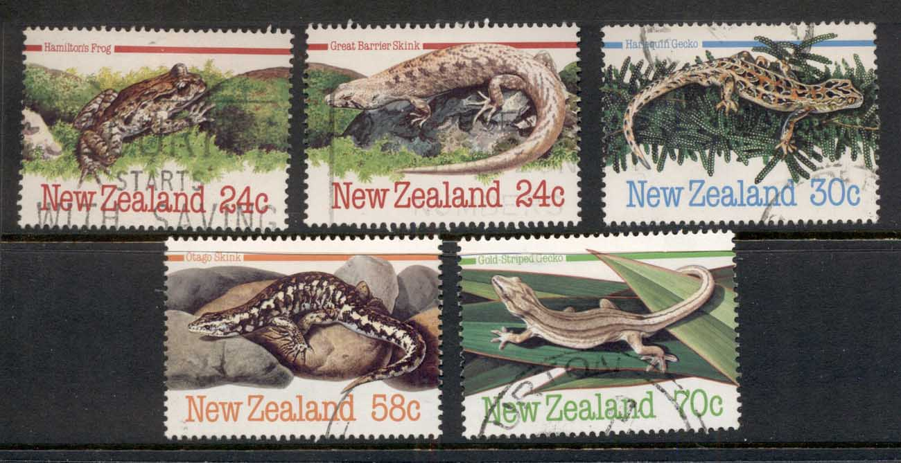 New Zealand 1984 Reptiles, Frogs, Lizards & Skinks FU