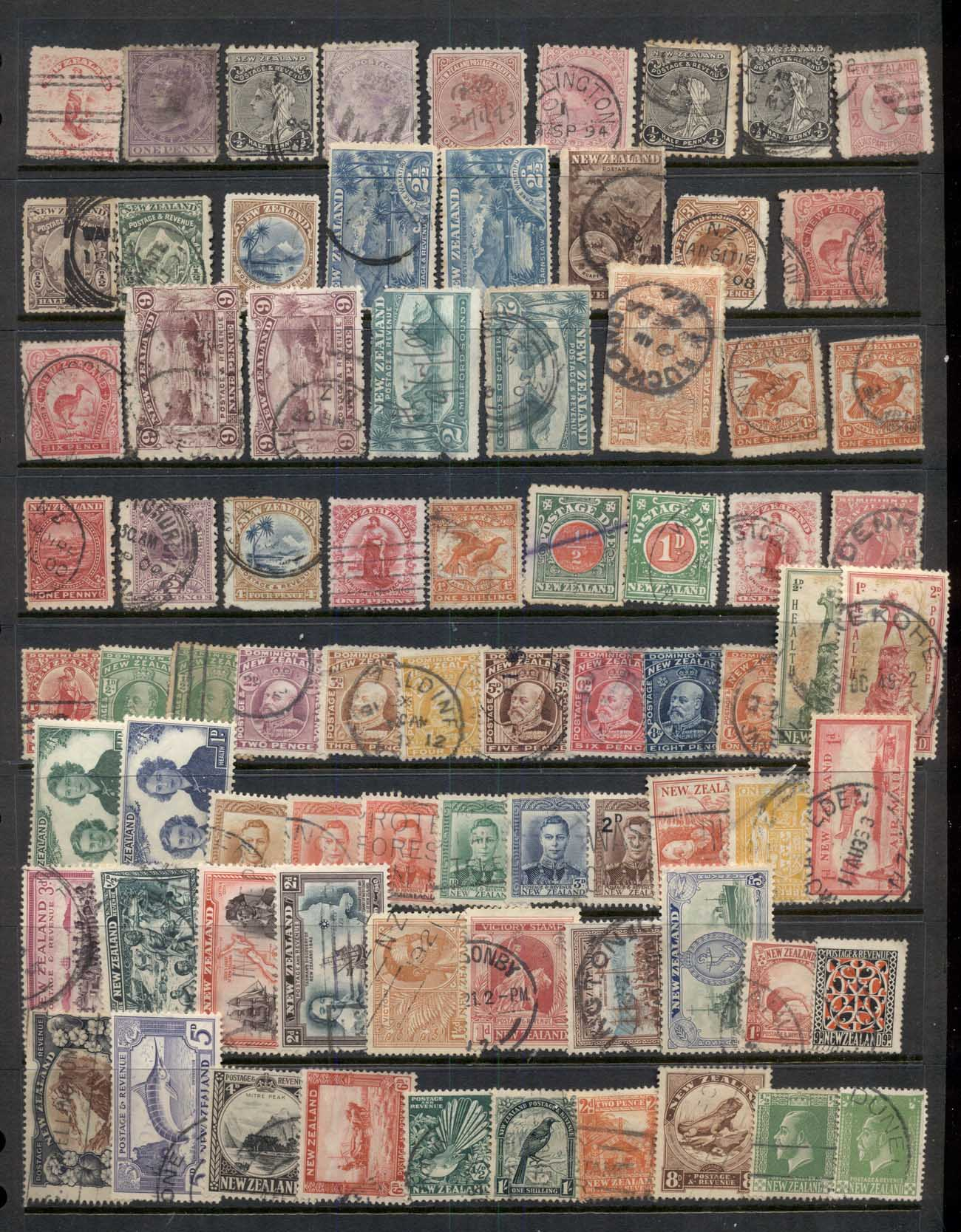 New Zealand 1900's on QV to modern assortment, some better 10 scans Mint & used