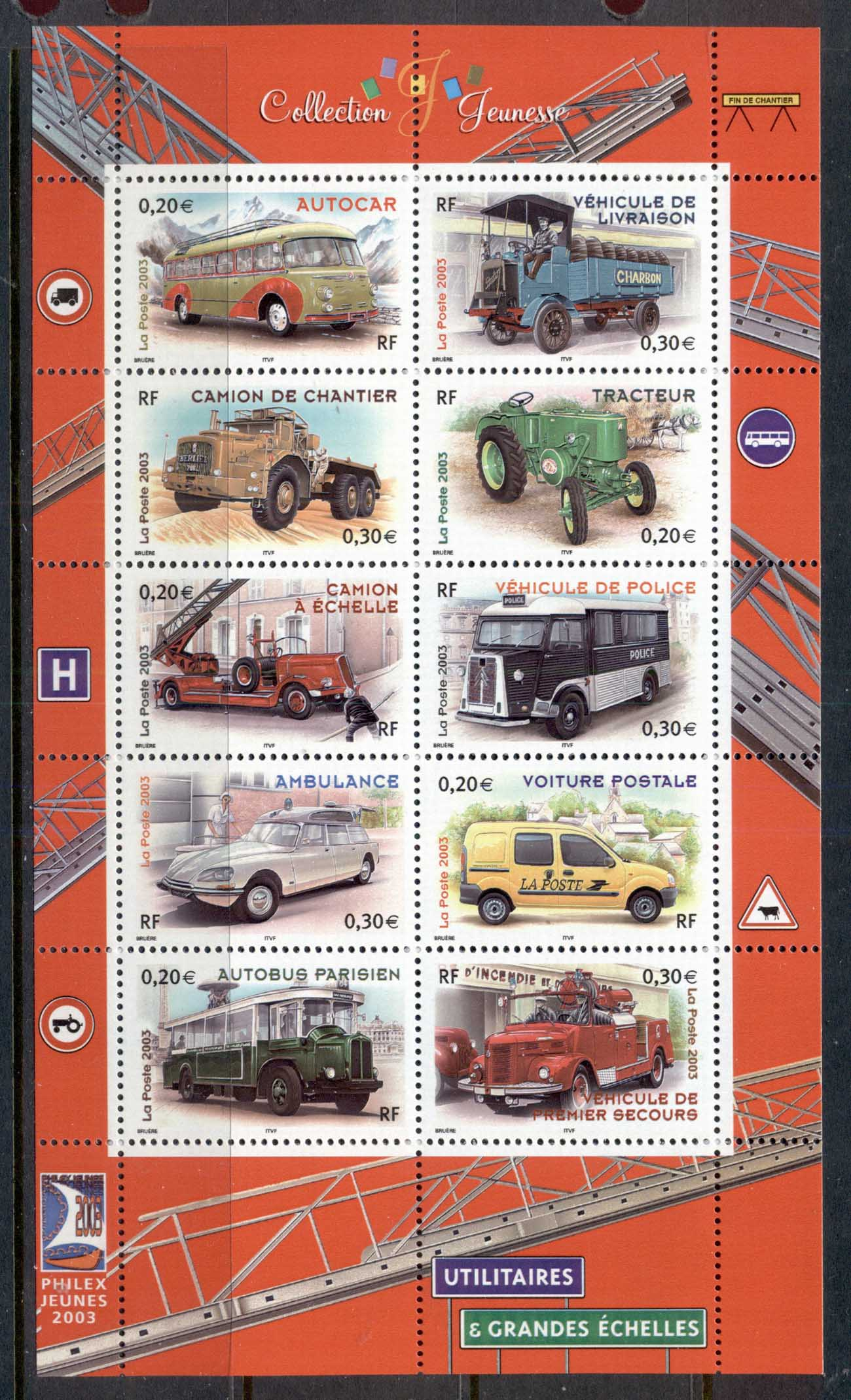 France 2003 Motor Vehicles MS MUH
