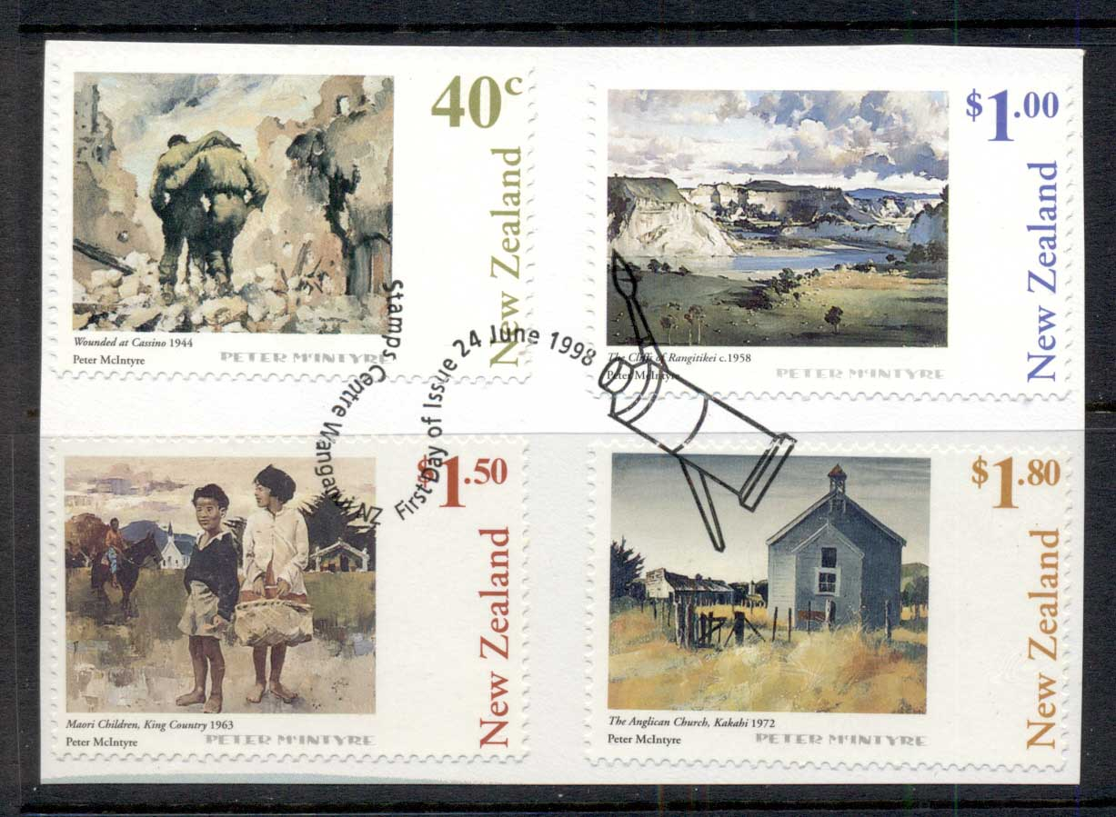 New Zealand 1998 paintings on piece FDI FU