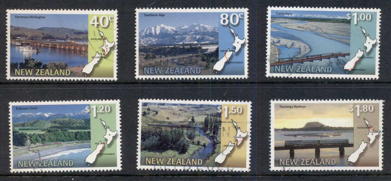 New Zealand 1997 Scenic Trains FU