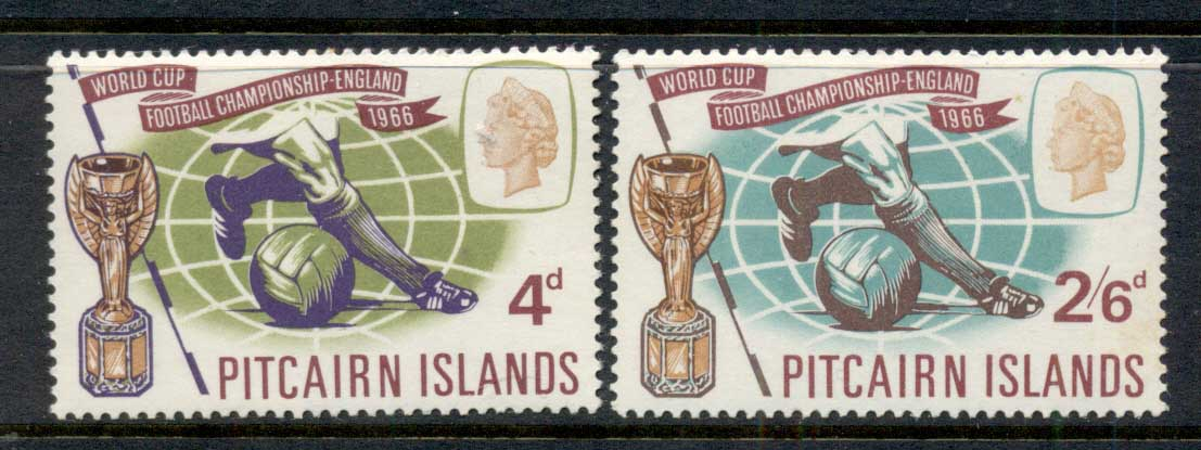 Pitcairn Is 1966 World Cup Soccer MLH