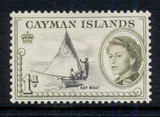 Cayman Is 1962 QEII Pictorial, 1d Bay Boat MLH