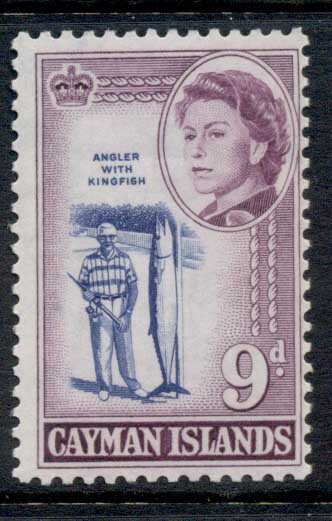 Cayman Is 1962 QEII Pictorial, 9d Angler with Kingfish MLH
